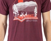 Arkansas Mountains tshirt in burgundy