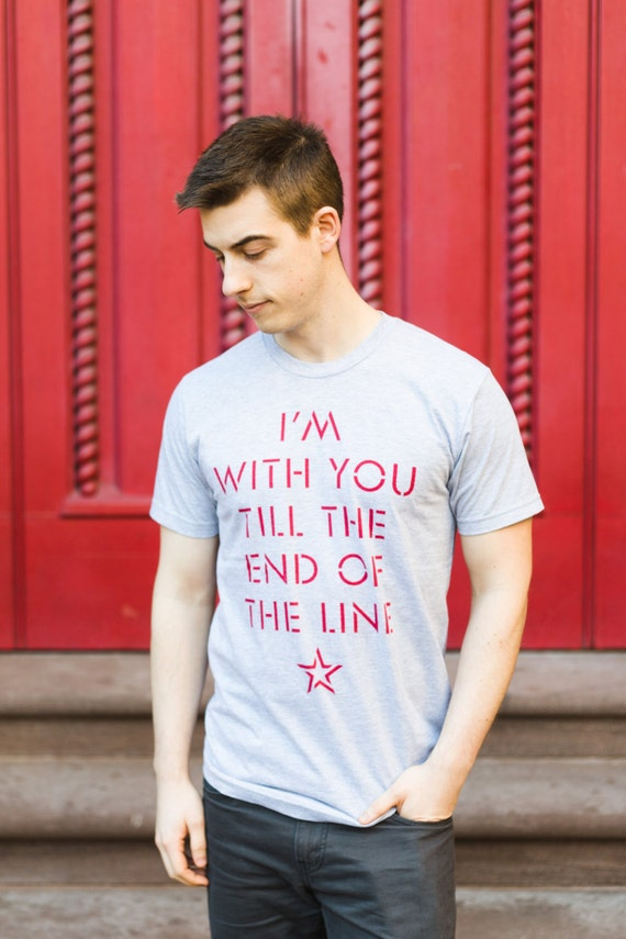Till the End of the Line Tee | Unisex Captain America T-Shirt | Gray