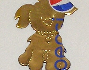 Cutie-Pup - Dog Magnet - Gold Caffeine Free Pepsi Soda Can