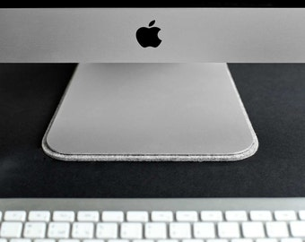 Pad for iMac. Wool felt and suede // PLAT