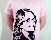 Tina Fey ICON T-Shirt - Light Pink, Size M