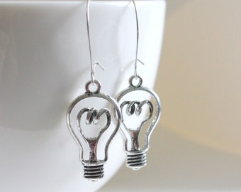 Edison Bulb Earrings, Science Jewelry, Nerd Earring, Nerd Jewelry, Geek Jewelry, Electric Jewelry,Bulb Earring,Science Earring,Geeky Earring