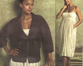 Donna Karan jacket, belt & dress pattern -- Vogue American Designer 2942