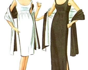 Pauline Trigère cocktail or evening dress & stole pattern -- McCall's 7521 -- NO ENVELOPE