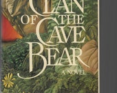 CLAN OF CAVE Bear, First Edition, First Print. 1980 Sound Hardcover Book With Dust Jacket, Earth's Children Series, Ayla, Collectible Books