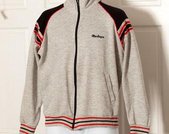 Vintage McGregor Track Jacket - gray red black - L