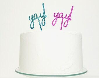 Yay Celebration Birthday Wedding Cake Topper
