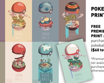 Pokemon Pokeball Interior Art Poster Print