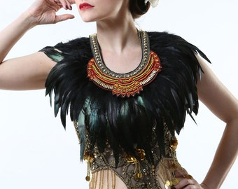 Tribal Feather Collar