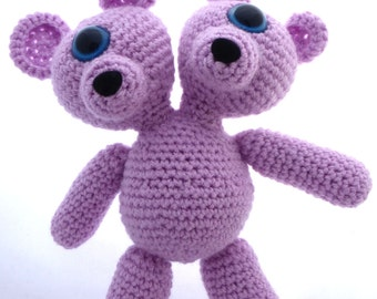 Crocheted Two Headed MutaTED™ - Lilac