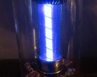 Steampunk Tesla Coil bell jar Prop with light up effect