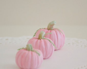 1:6 Scale Sweet Petite Play Scale Miniature Set of 3 Pink Pumpkins