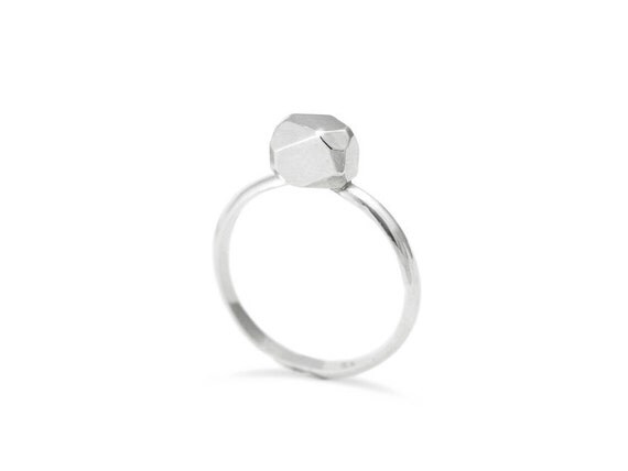 Meteor Ring, Silver Prism Ring, Statement Ring, Sterling Silver Ring For Women, RS018