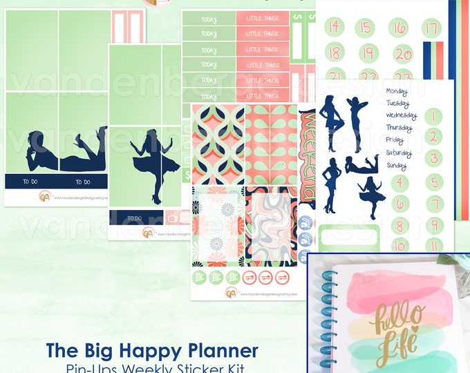 The BIG Happy Planner Pin-Up Weekly Planner Sticker Kit forthe MAMBI BIG Happy Planner