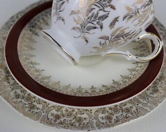 Mismatched Tea Cup Trio Gainsborough Gold Gilt Tea Cup