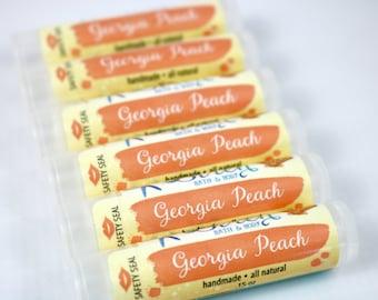 Georgia Peach Lip Balm . Natural Lip Balm . Peach . Lip Butter