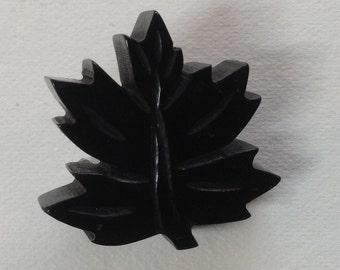 1940's Bakelite Leaf Brooch