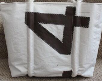 Recycled black number sail bag