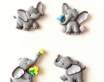 Elephant Magnets, Elephant Thumbtacks, Tiny Trunks, Cute, Fridge Magnets, Push Pins, Neodynium Magnets