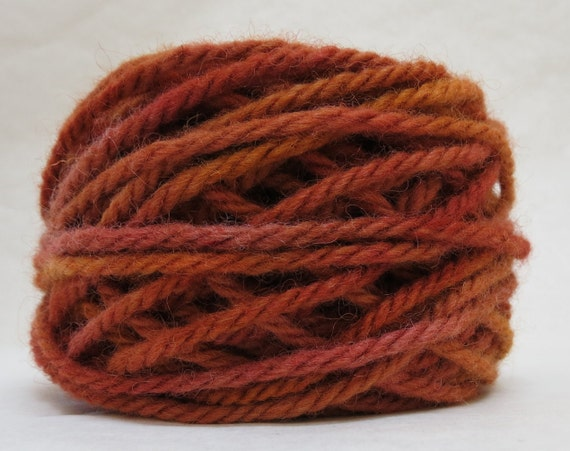 GOLDEN, 100% Wool, 2 oz. 43 yards, 4-Ply, Bulky weight or 3-ply Worsted weight yarn, already wound into cakes, ready to use, made to order.
