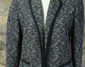 black and white tweed BUTTE JACKET BLAZER 1960's 60's M L