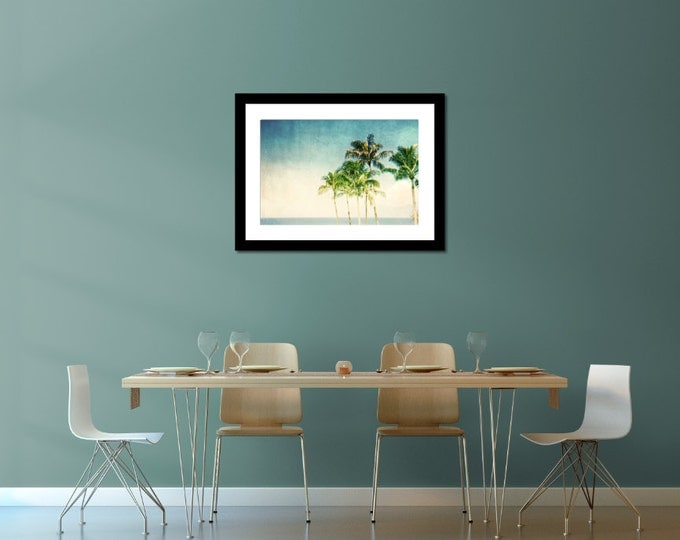 Retro Beach Home Decor, Ocean Coastal Landscape for Tropical Wanderlust Decor - 8 sizes available