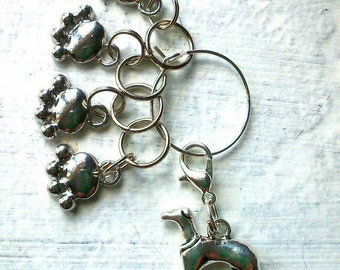 Knitting Stitch Markers for hound lovers