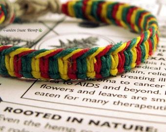 Rasta Hemp Bracelet, Red Yellow Green Hemp Bracelet, Macrame Hemp Bracelet, Rasta Hemp Jewelry, Hemp Rasta Bracelet, Macrame Hemp Jewelry