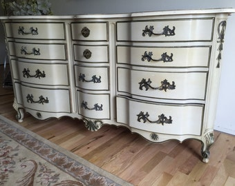 Vintage French Provincial 12-drawer dresser by Kent Coffey