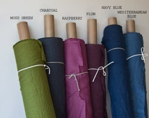 LINEN FABRIC / washed / eco friendly