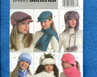 Butterick 4883 Newsboy Hats Bushman Hats & Stocking Caps for Women UNCUT