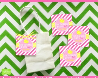 Pink Lemonade Favor Tags - Lemonade Stand Thank You Tags - Pink Lemonade Gift Tags - Digital and Printed Available