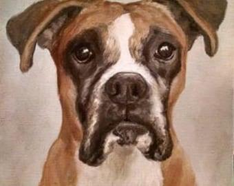 """Pet Portrait, Custom Pet Portrait, Pet Painting, Custom Pet Painting, Custom Dog Portrait, Custom Cat Portrait, 8"""" x 10"""""""