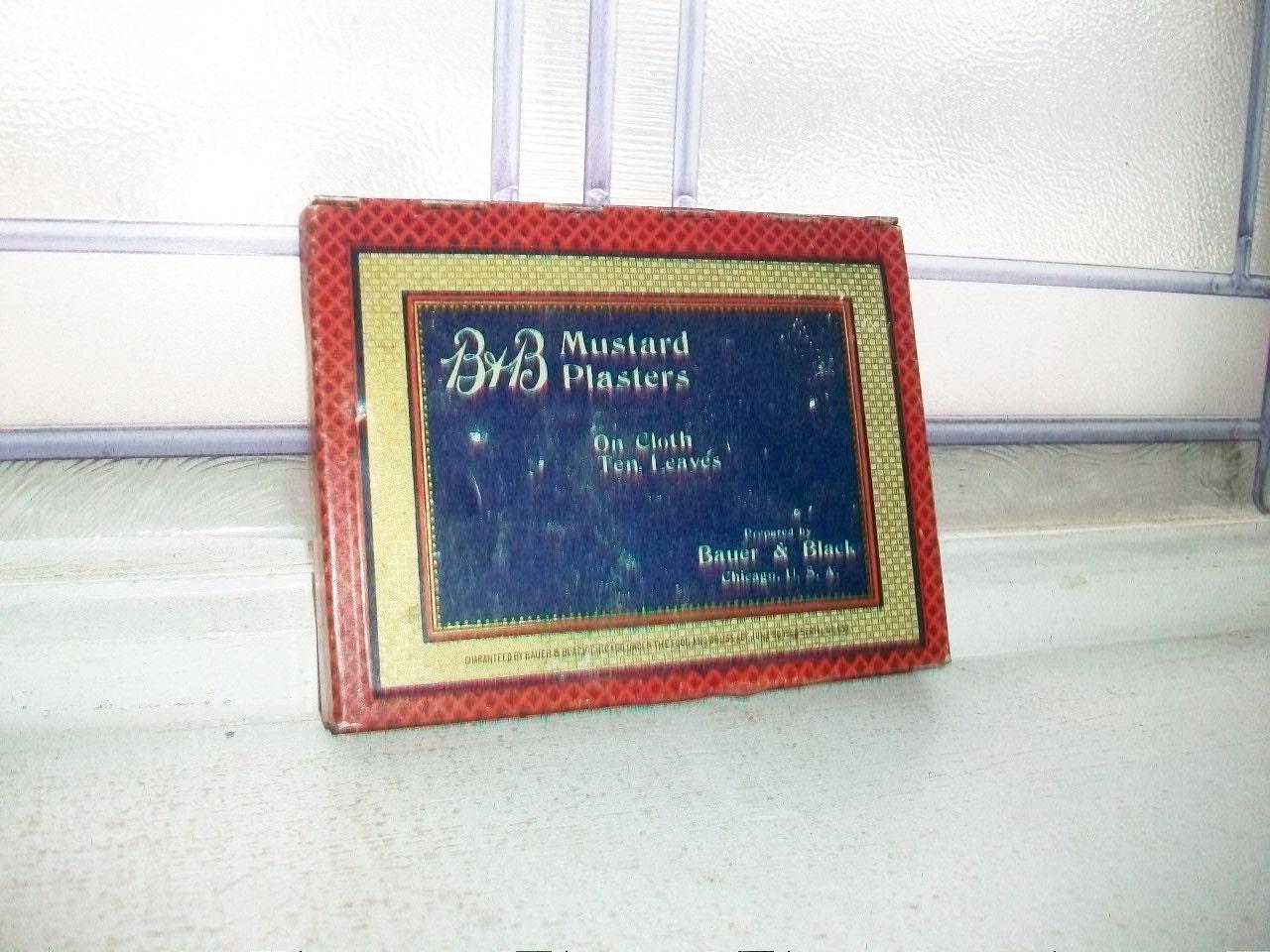 B b mustard plasters tin vintage bathroom decor for Mustard bathroom accessories uk