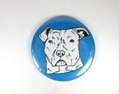 Pit bull magnet - pit bull gift - pitbull favor - funny dog portrait - refrigerator magnet - dog lover gift - pitbull