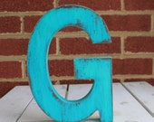 Rustic distressed wood letter wedding/ nursery mantle home decor, etc... 8""