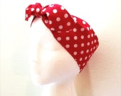 ROSIE The Riveter head wrap • Adjustable head scarf • Polka dots head scarf • We Can Do It Costume head scarf • MEDIUM polka dots head wrap