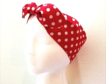 Cotton ROSIE THE RIVETER handmade adjustable headband