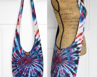 Hobo Bag Boho Bag Crossbody Bag Hippie Purse Sling Bag Boho Purse Bohemian Bag Hobo Purse  Tie Dye Swirl Hippie Bag Slouchy Purse Tie Dye