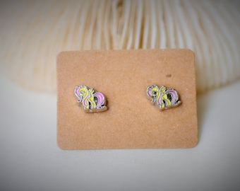 My Little Pony: Friendship Is Magic -- APPLE BLOOM Stud Earrring ~ 8 mm- Girls / Casual / Cutie