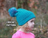 CROCHET PATTERN - Times Square Slouch Beanie - (Toddler, Child, Teen/Adult) - Sell What You Make