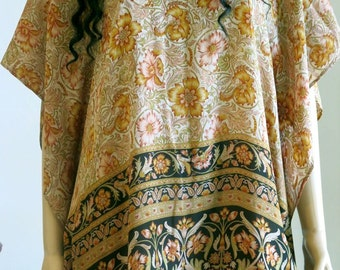 Silk Kaftan, Caftan, Cover up, Silk Top