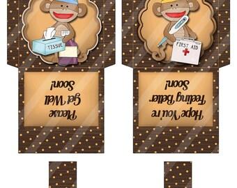 Printable Digital Tea Bag Wrappers - Tea bag Envelopes - Get Well - Feel Better