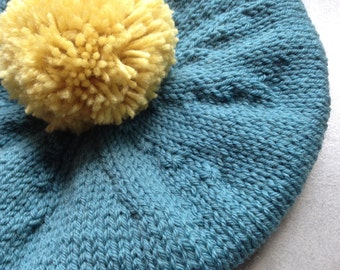Beret, Tam, Hat, Children's Beret, Knitted Baby Clothes, UK Seller, Pure Wool