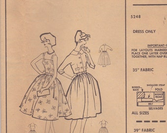 1950s Sun Dress & Jacket Pattern McCalls 5248 Size 16 Uncut