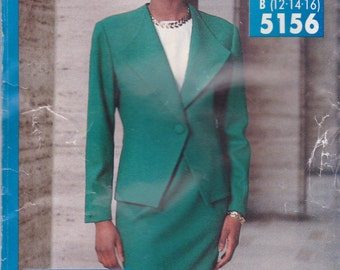 Suit Pattern Butterick 5156 Sizes 12 14 16 Uncut