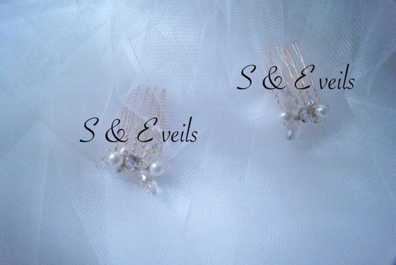 Brooches | hair accessories, small gold hair combs wedding veils (Veil Sold Separately)