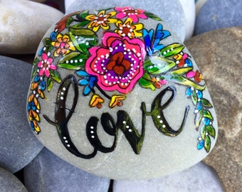 love / painted rocks / painted stones / paperweights / rock art / words in stone / rocks / cape cod / anniversary gifts / valentines / boho