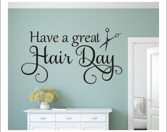 Salon Wall Decor hairdresser wall decal hair salon decal hairdresser decal