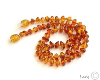 Baltic Amber Baby Teething Necklace Honey Color Beads